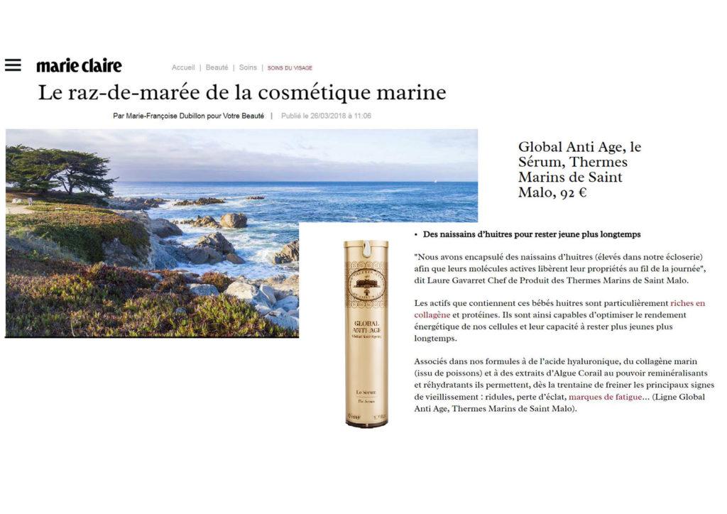 Article dans Marie Claire