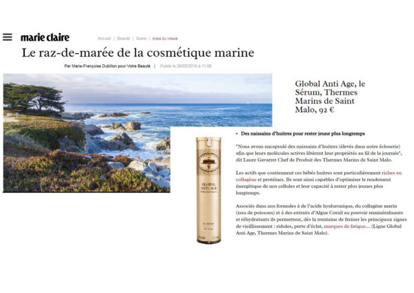 marie claire: the tidal wave of sea cosmetics
