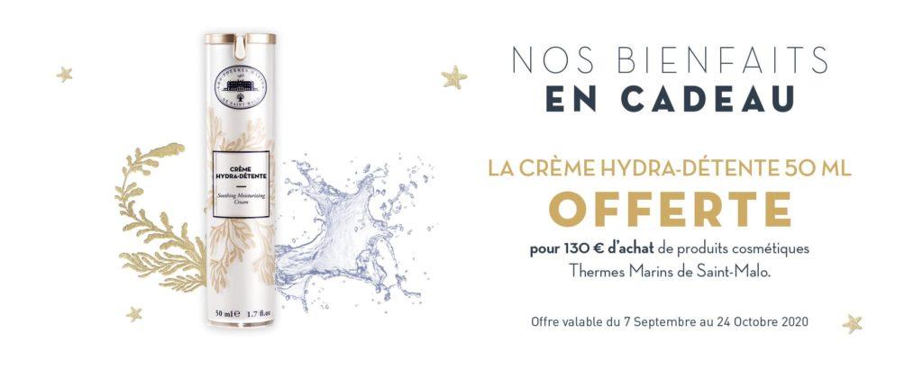 Crème Hydrta Détente Offerte pour 13O€ d'achat